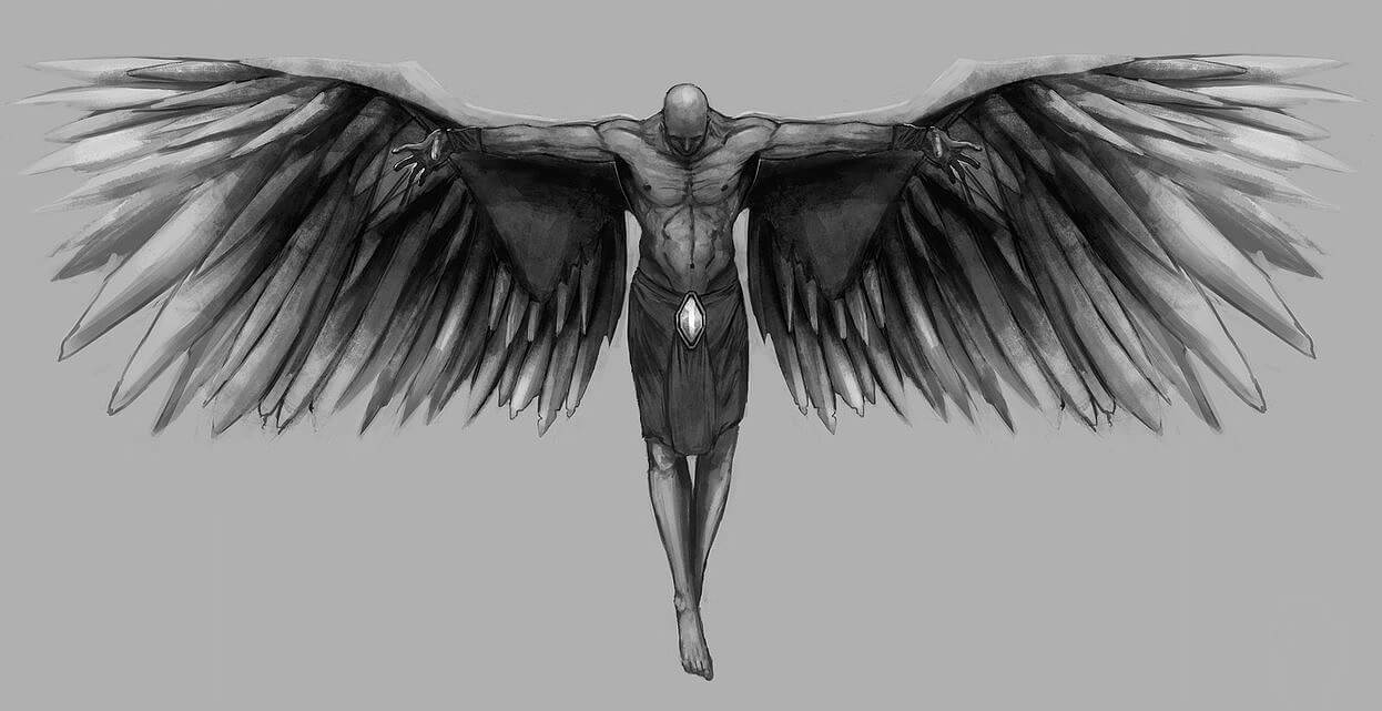 Fallen angel tattoos: 50+ excellent design, history and ...