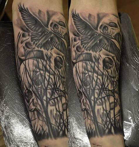Crow Tattoo 155 Great Ideas And Designs For Men And Girls