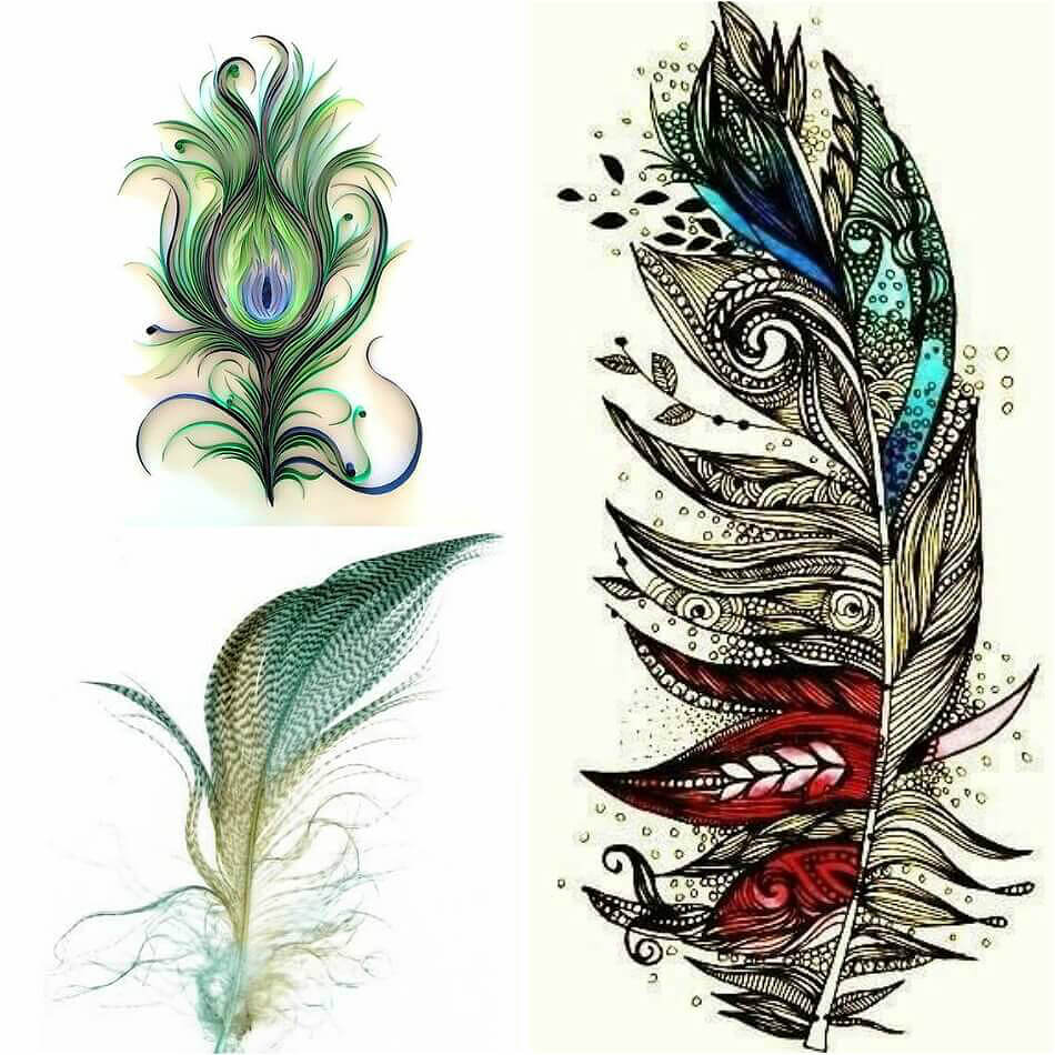 150 awesome feather tattoos popular combinations