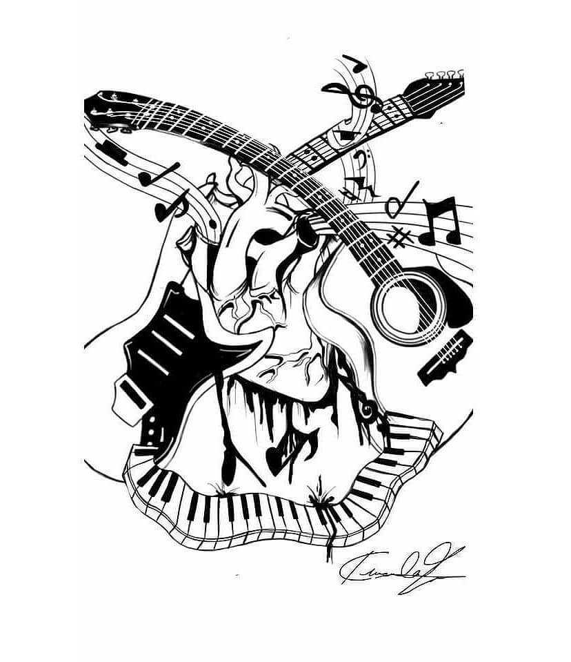 22 Music Tattoo Designs Ideas: 45 Musical Tattoos: Amazing Photos, Designs And Sketches